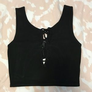 Forever 21 crop top with tie up detail